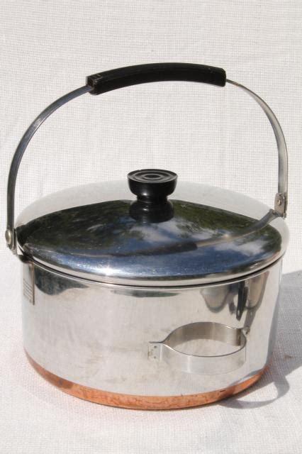 vintage revere ware copper clad bail handle pot 4 quart