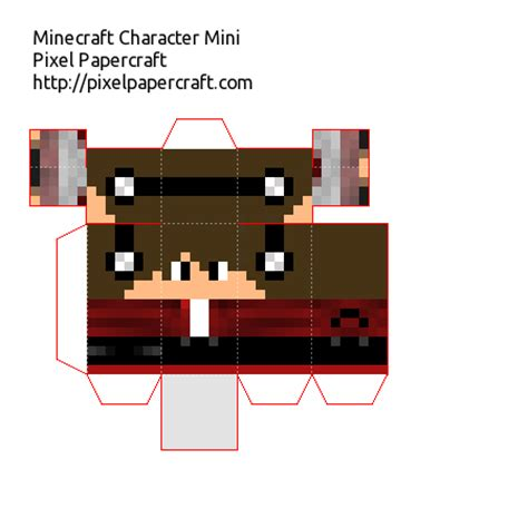 Papercraft Minecraft Skin Generator - papercraft boyfriend variant 5 with mini project