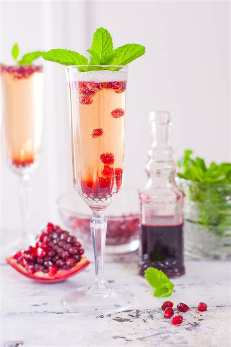 martini mint pomegranate mint chagne cocktail recipe eating richly