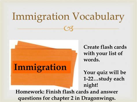 make vocabulary flash cards ppt dragonwings quiz powerpoint presentation id 3139501