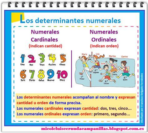 imagenes y videos navide 241 os los numerales mi cole luis cernuda canillas t 4 4 186 quot los determinantes posesivos y numerales quot