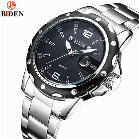 biden brand new ultra thin simple s watches waterproof fashion casual date 3atm