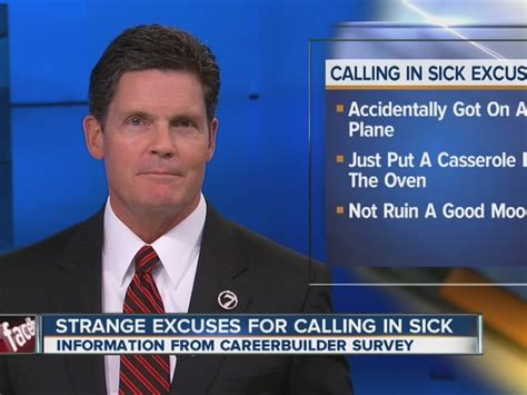 most excuses for calling in sick list via