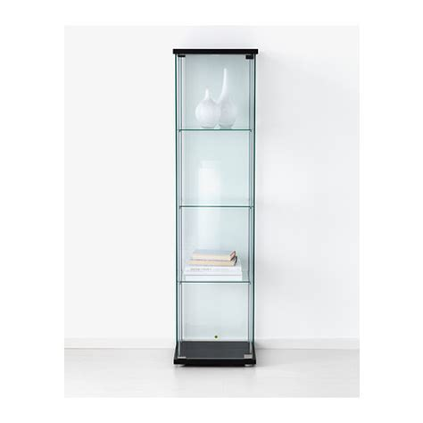 Cabinet Door With Glass by Detolf Glass Door Cabinet Black Brown 43x163 Cm