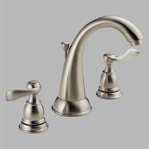 widespread bathroom sink faucet delta windemere b3596lf handle widespread bathroom