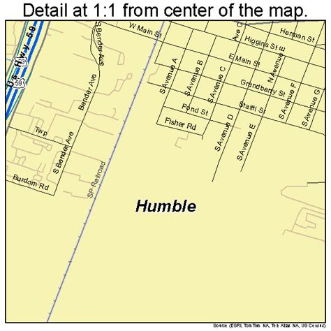 map of humble texas landsat