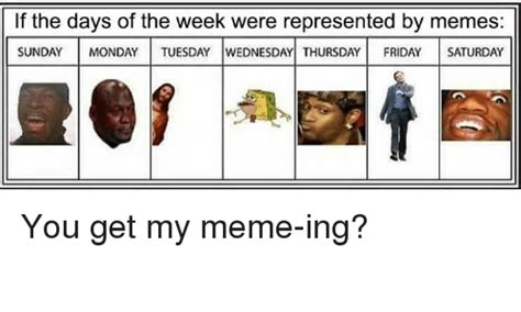 Meme Of The Week - if the days of the week were represented by memes sunday