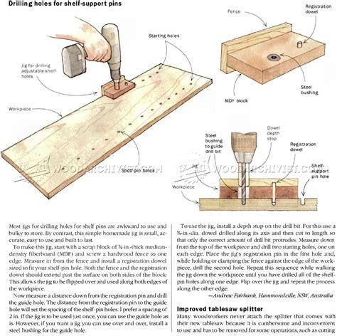 woodworking methods diy shelf pin jig woodarchivist