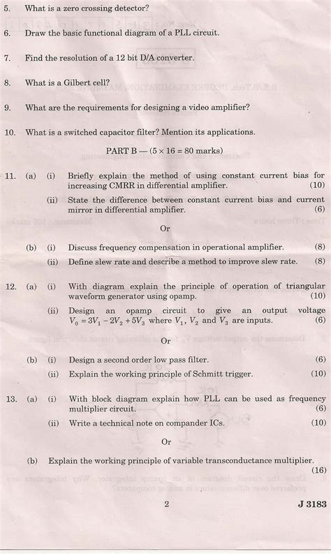 linear integrated circuits question paper 2015 linear integrated circuits nov dec 2014 question paper 28 images ec2254 linear integrated