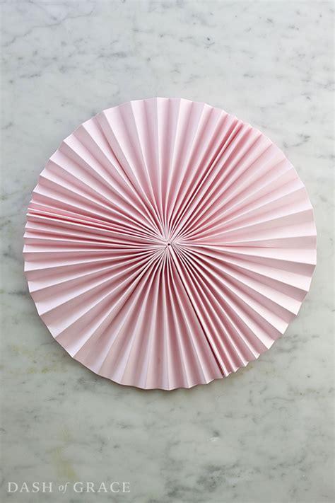 Paper Fan - paper fan paper rosette diy dash of grace