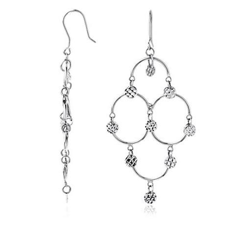 Chandelier Earrings In Sterling Silver Blue Nile Sterling Silver Chandelier Earrings