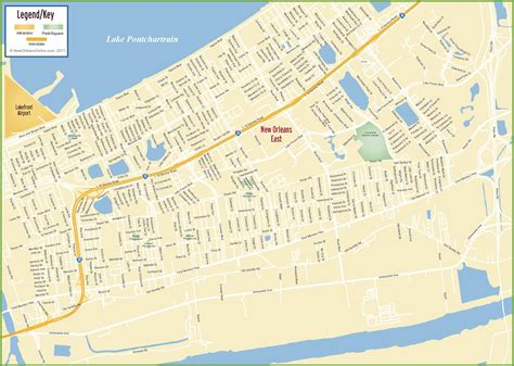 map us new orleans new orleans east map