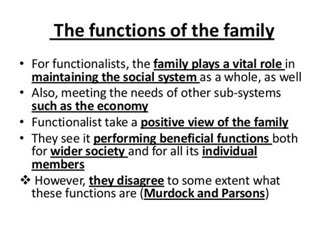 Functionalism And The Family Essay by Functionalist Theory Family Essay