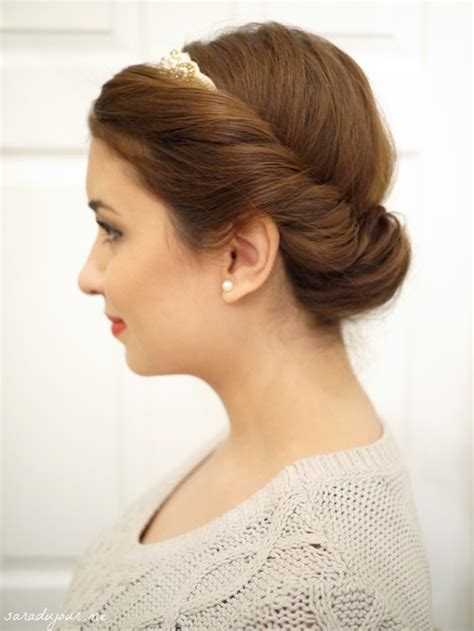 princess bun hairstyles how to hair pinterest updo tutorial the 1 minute princess bun sara du jour