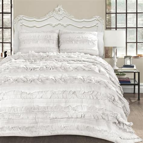 romantic comforters bellamie 4pc luxury romantic tier ruffle comforter bedding