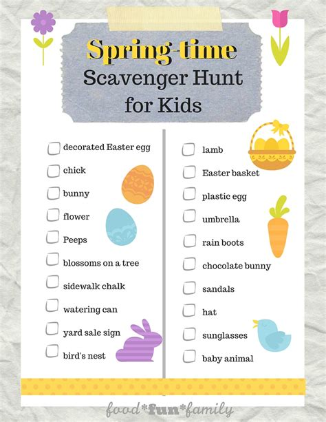 easter scavenger hunt easter spring scavenger hunt for kids