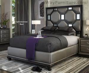 after eight black onyx upholstered king bed master bedroom