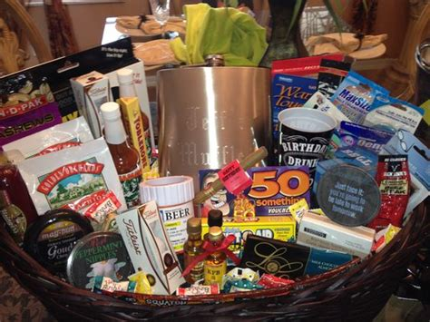 gift basket ideas for him 50th birthday gift basket for him 50th birthday gift
