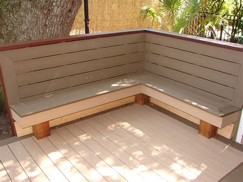 corner deck bench this corner bench is sloped for comfort and finished off