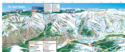 map of vail colorado vail skimap org