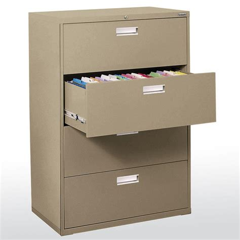 36 lateral file cabinet sandusky 600 series 36 in w 4 lateral file cabinet