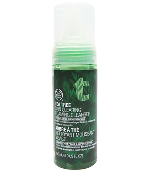 Bodyshop Tea Tree Foaming 5 on the shop tea tree skin clearing foaming cleanser 50ml on snapdeal paisawapas