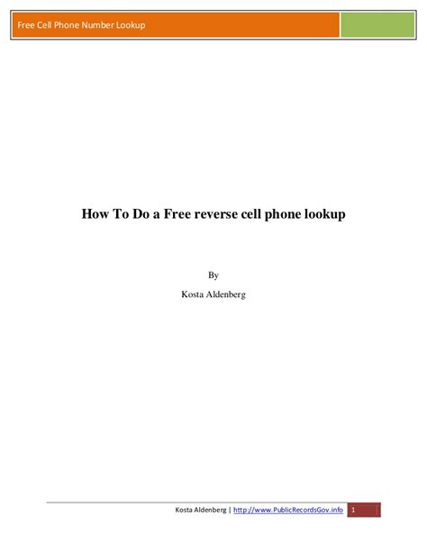 Reversal Phone Lookup How To Do A Free Cell Phone Lookup