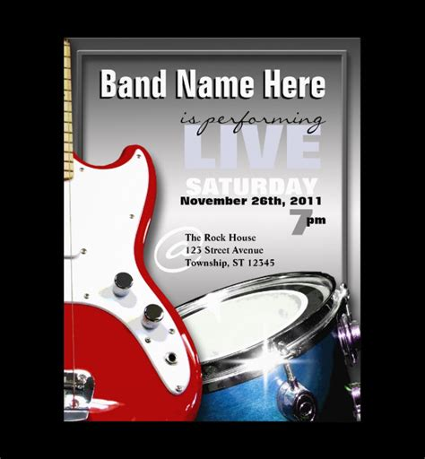 Band Flyer Template 26 Psd Band Flyer Templates Designs Free Premium Templates