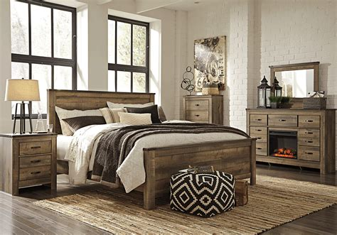 Trinell Bedroom Set by Trinell Brown King Panel Bedroom Set Overstock
