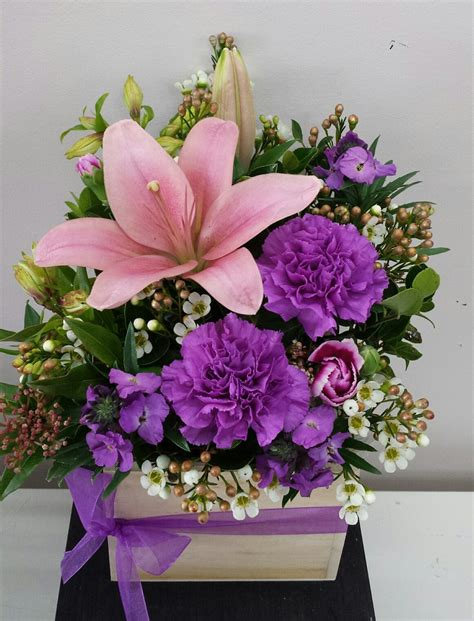 Cottage Style Flowers by Cottage Wood Box Adelaide Flower Delivery