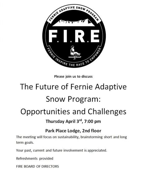 Invitation Letter For Brainstorming Meeting About Fernie 171 Fernie Adaptive Ski Program