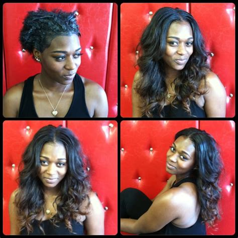 before and after sew in weave full sew in weave before after done by christian pitre yelp