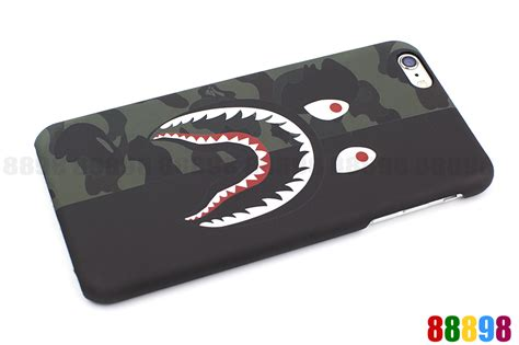 Iphone 6 6s Bape Bathing Ape Stickerbomb Shark Hardcase Cover a bathing ape bape 1st camo shark phone cover