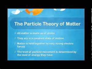 particle theory of matter youtube