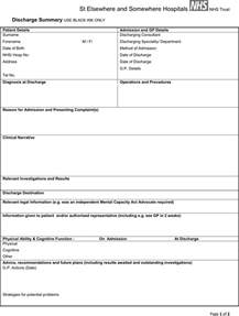 discharge form template the discharge summary format can help you make a