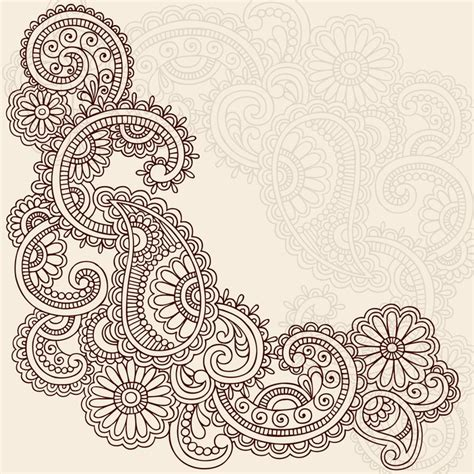 henna tattoo wall art henna abstract doodle mehndi vector design wall
