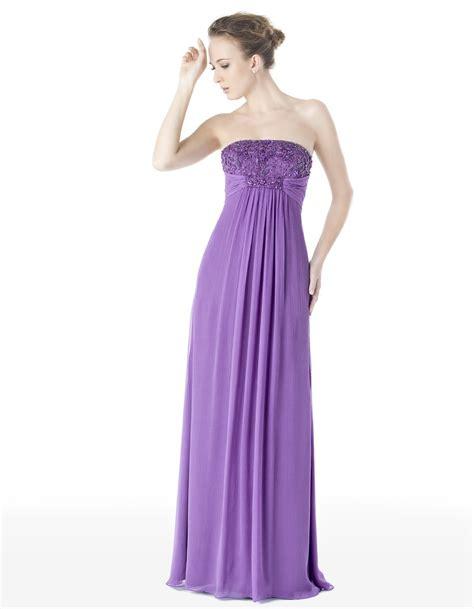 Purple Strapless Dress china strapless purple chiffon prom dress pd013 china