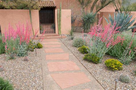 Flagstone Entryway Desert Gardening Easy Front Yard Fixes