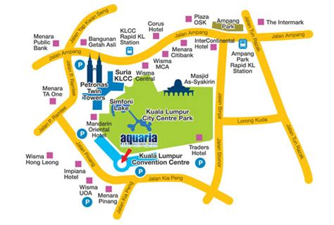 aquaria resort map aquaria klcc attractions wonderful malaysia
