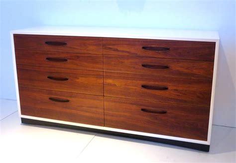 mid century modern dresser white mid century american modern walnut dresser and white
