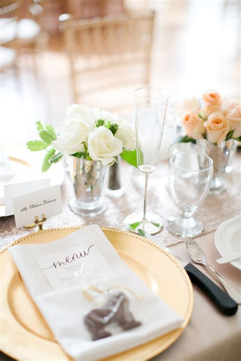 blush ivory  gold reception table elizabeth anne