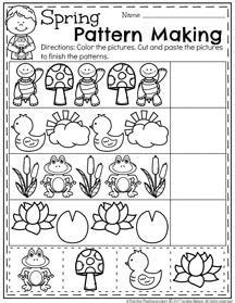 pattern making activities for preschool march preschool worksheets worksheets spring and patterns