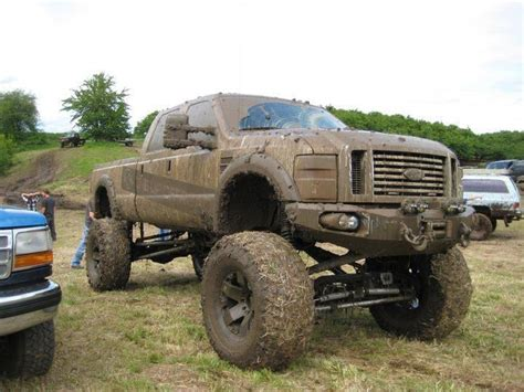 muddy truck muddy lifted ford mudder truck in the grime