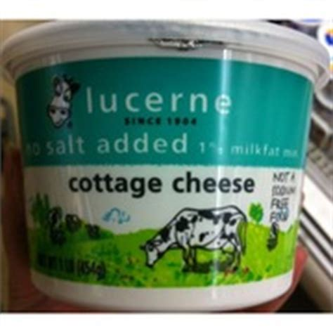 lucerne cottage cheese no salt added calories nutrition