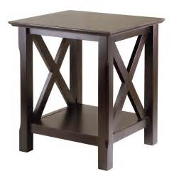 winsome xola end table by oj commerce 40420a 68 25