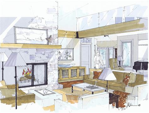 sketchup layout interior design michelle morelan s hybrid drawings for interior design