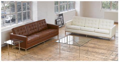 Florence Knoll Sofa Design Florence Knoll Style Sofa 3 Seat White Premium Leather Furniture Pinterest