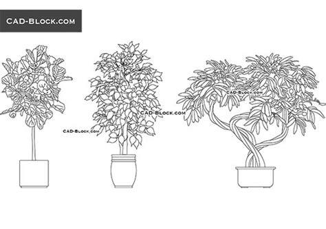 trees  plants  cad blocks dwg files