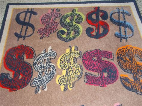 Andy Warhol Rug by Large Andy Warhol Dollar Sign Rug For Sale At 1stdibs