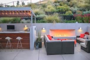 Indoor Gas Fire Pits - designing a contemporary garden with warmth garden design